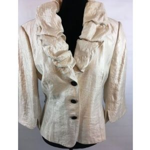 Adrianna Papell Evening Gold Shimmer Jacket Sz 12